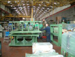 1200Ton 4 Ram Upstroke Press during construction - in JBT Engineerings UK Factory